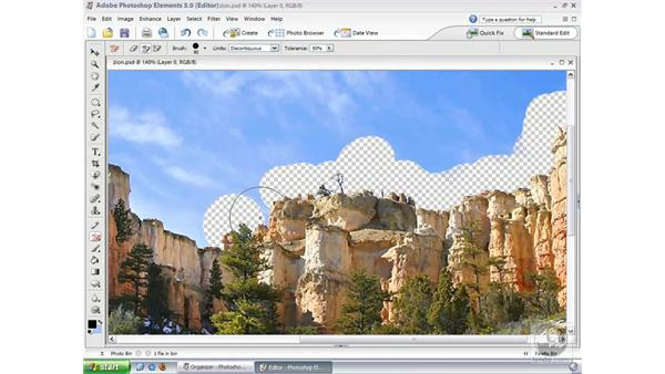 Background Eraser Tool: Photoshop Elements 3 Essential Training
