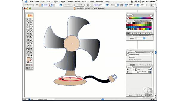 Live Paint: Illustrator CS2 Essential Training