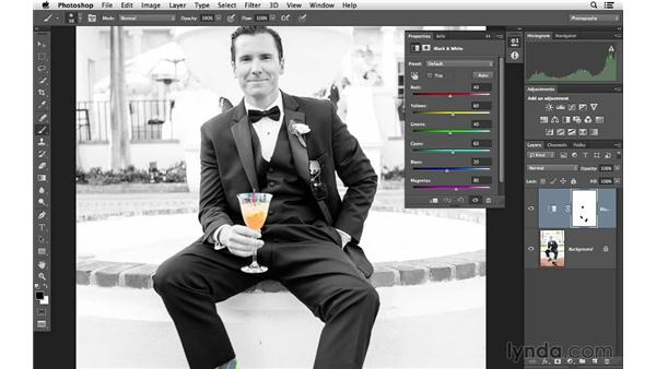 Using color to highlight multiple areas of a photo: Photoshop for Photographers: Color Emphasis