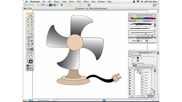 Live Paint Tips: Illustrator CS2 Essential Training
