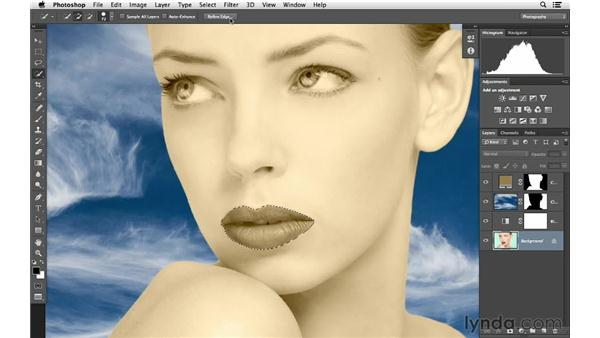Coloring the face: Photoshop for Photographers: Color Emphasis