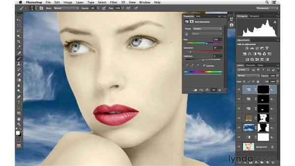 Painting the eyes blue: Photoshop for Photographers: Color Emphasis