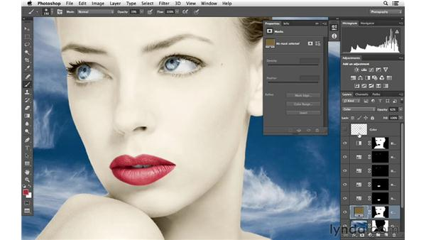 Finishing color and blending adjustments: Photoshop for Photographers: Color Emphasis