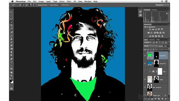 Coloring the face and shirt: Photoshop for Photographers: Color Emphasis