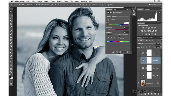 Colorizing an image with Hue and Saturation: Photoshop for Photographers: Color Emphasis