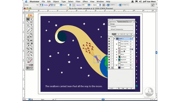 Layers and Groups: Illustrator CS2 Essential Training