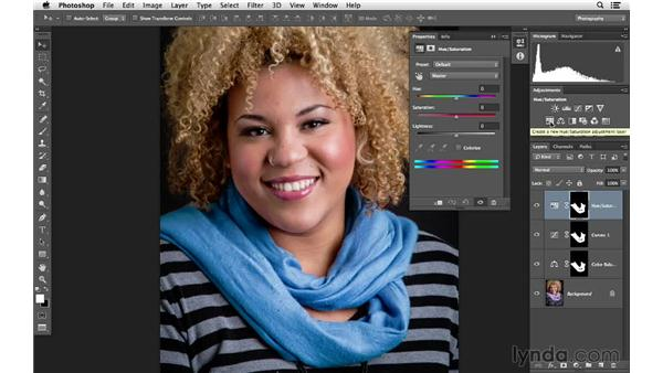 Reusing a mask to customize the color further: Photoshop for Photographers: Color Emphasis