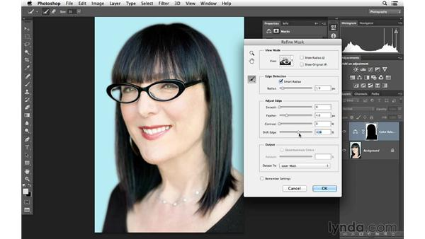 Changing the color of the background: Photoshop for Photographers: Color Emphasis