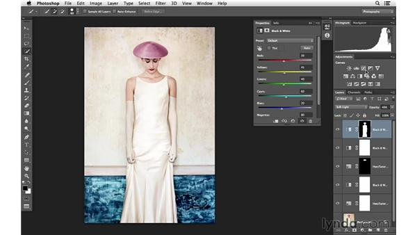 Taking the final steps to creating unique color: Photoshop for Photographers: Color Emphasis