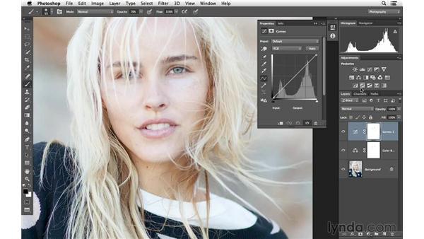 Improving color in a celebrity portrait: Photoshop for Photographers: Color Emphasis