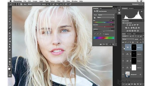 Enhancing the lips and color vibrance: Photoshop for Photographers: Color Emphasis