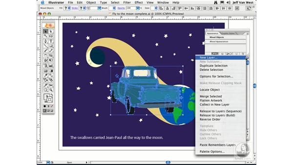 Pasting between Layers: Illustrator CS2 Essential Training