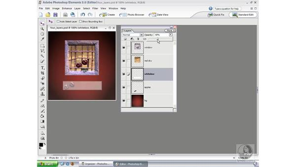 Opacity and Blend Modes: Photoshop Elements 3 Essential Training