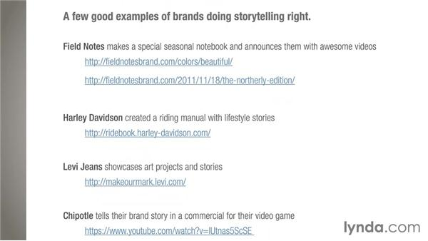Good examples and resources: Business Storytelling with C.C. Chapman