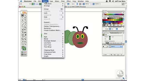 Transforming Patterns and Strokes: Illustrator CS2 Essential Training