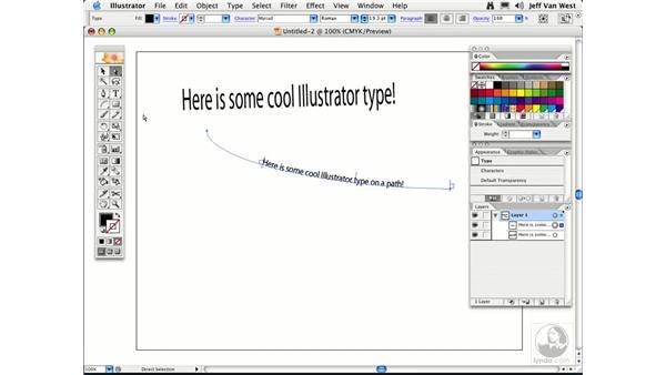 Type Containers: Illustrator CS2 Essential Training