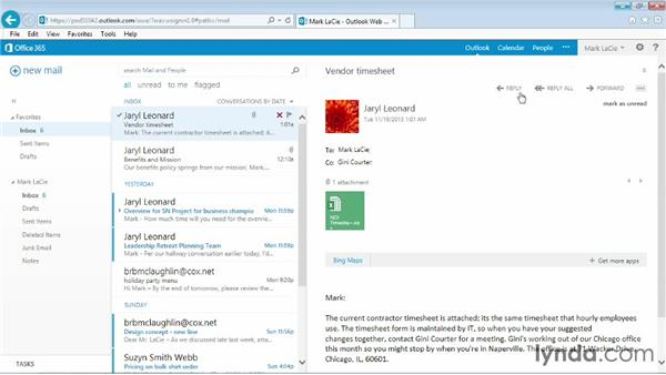 Replying and forwarding: Outlook Web App (OWA) 2013 Essential Training