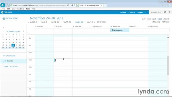 Canceling an appointment or event: Outlook Web App (OWA) 2013 Essential Training