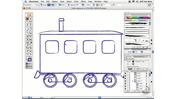 Art Brushes: Illustrator CS2 Essential Training