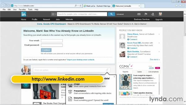 Connecting to LinkedIn: Outlook Web App (OWA) 2013 Essential Training