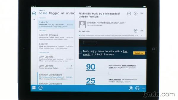 Viewing and responding to email with OWA for iPad: Outlook Web App (OWA) 2013 Essential Training