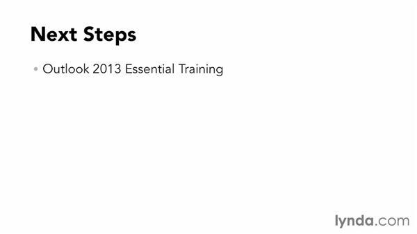 Next steps: Outlook Web App (OWA) 2013 Essential Training