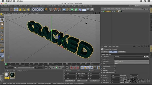Building fractured letters with Thrausi: Mograph Techniques: Fractured 3D Type