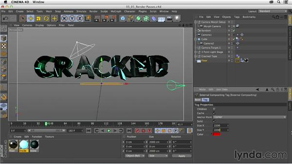 Working with render passes: Mograph Techniques: Fractured 3D Type