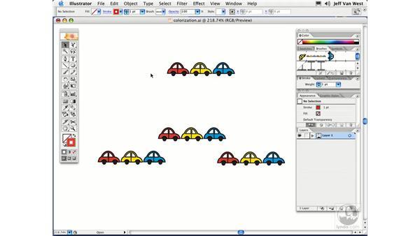 Colorization: Illustrator CS2 Essential Training