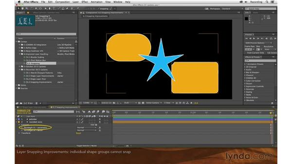 Layer snapping improvements: After Effects: Creative Cloud Updates