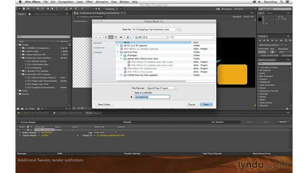 Additional tweaks: After Effects: Creative Cloud Updates