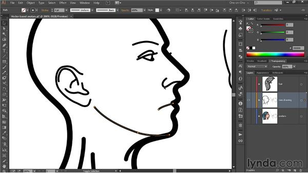285 Drawing a vector-based avatar in Illustrator: Deke's Techniques