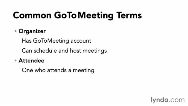 Understanding common GoToMeeting terms: Up and Running with GoToMeeting