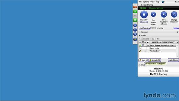 Managing audio controls: Up and Running with GoToMeeting