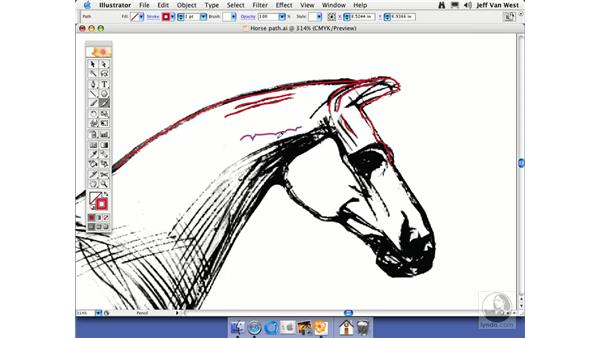 Drawing with the Pencil: Illustrator CS2 Essential Training