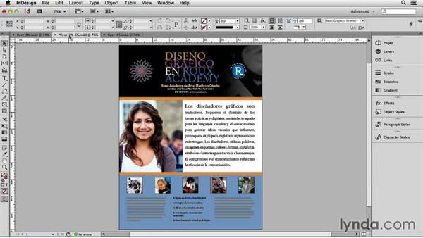 Strategy overview: Adapting an English Layout into Spanish with InDesign