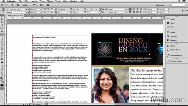 Setting up one language per file: Adapting an English Layout into Spanish with InDesign