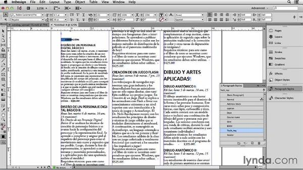 Formatting the Spanish text: Adapting an English Layout into Spanish with InDesign