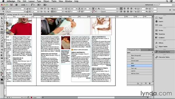 Copyfitting the Spanish text: Adapting an English Layout into Spanish with InDesign