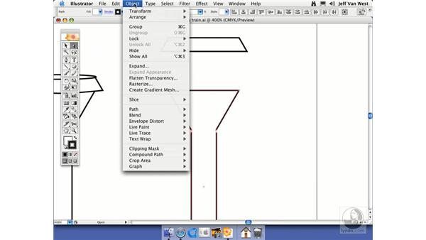 Cutting and Joining Paths: Illustrator CS2 Essential Training
