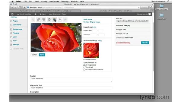 Editing photos in WordPress: Creating a Photo Gallery in WordPress with jQuery