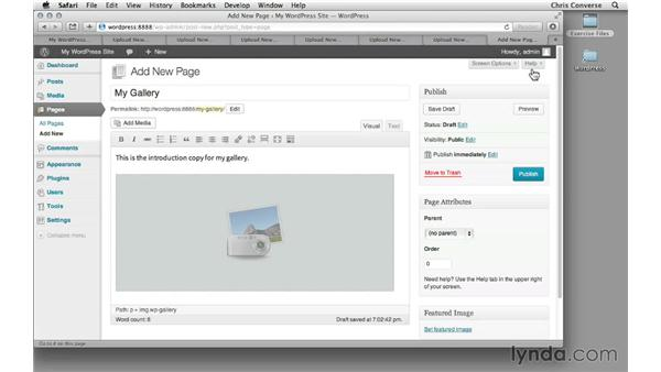 Creating a gallery in WordPress: Creating a Photo Gallery in WordPress with jQuery