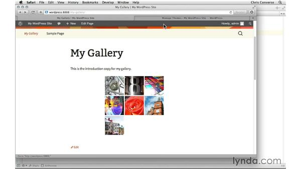 Modifying the gallery with CSS: Creating a Photo Gallery in WordPress with jQuery