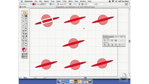 Comparing Shape Modes and Pathfinders: Illustrator CS2 Essential Training