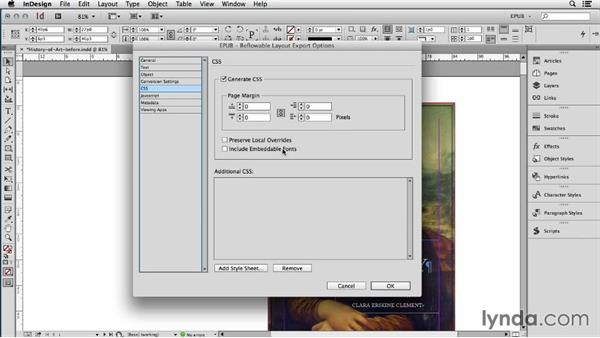 What is and is not included in an InDesign EPUB export: InDesign CC: EPUB Fundamentals