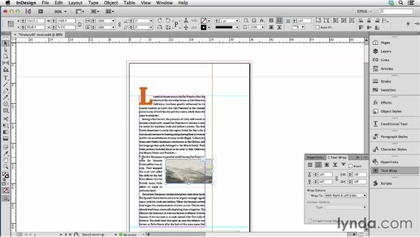 Anchoring images: InDesign CC: EPUB Fundamentals