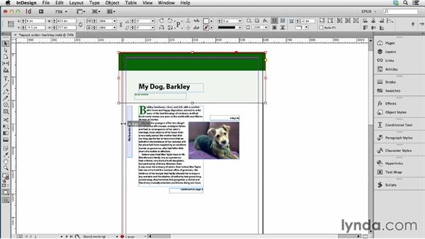 Managing the sequence of content: Layout order: InDesign CC: EPUB Fundamentals
