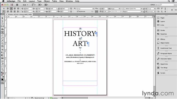 Maintaining text frame spacing: InDesign CC: EPUB Fundamentals