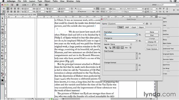 Cleaning up text with Find/Change and the FindChangeByList script: InDesign CC: EPUB Fundamentals