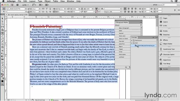 Converting local formatting to styles: InDesign CC: EPUB Fundamentals